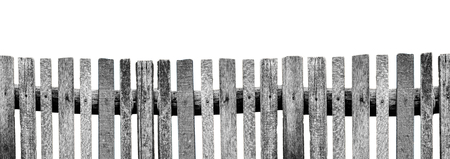 wooden color: Wooden fence isolated on white background, No color.
