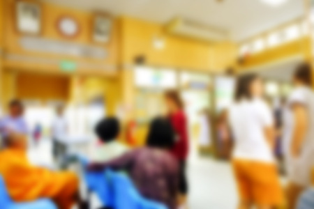 visitador medico: Abstract blurred of people waiting doctor at the hospital.