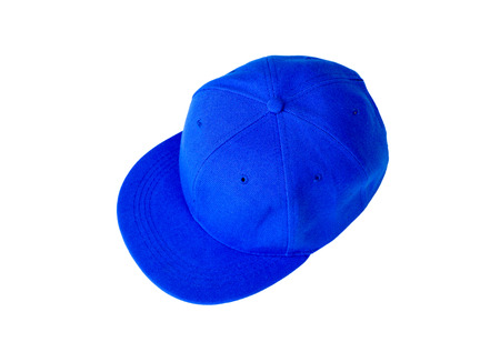 rapping: blue cap isolated on white background