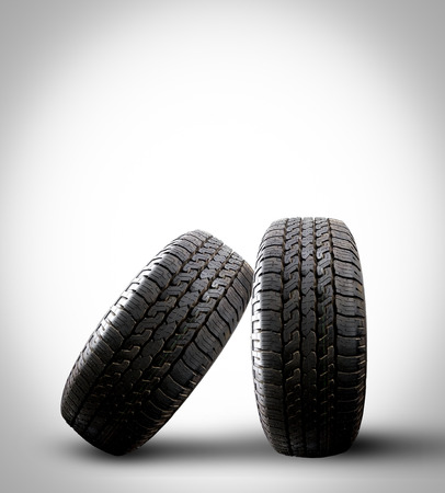 tire isolated on a gray background