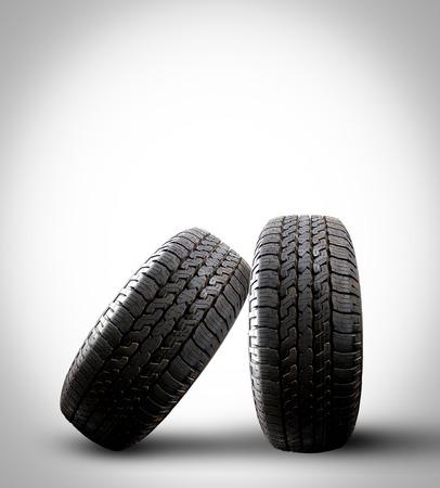 tire isolated on a gray background Reklamní fotografie