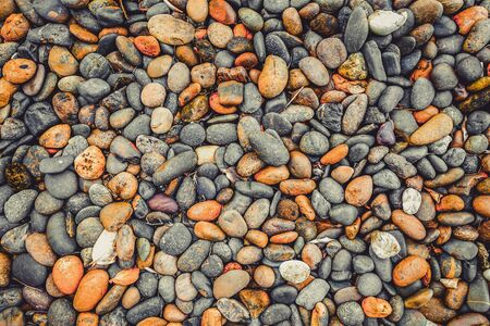 heap: Top view of heap vintage stone background texture. Stock Photo