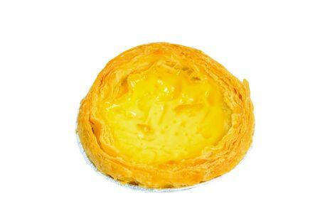 egg tart on white background