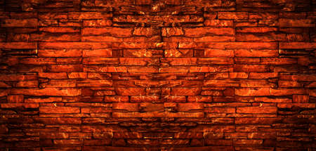 Old grunge rustic red brick texture background