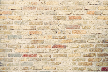 Close up old brick wall background texture