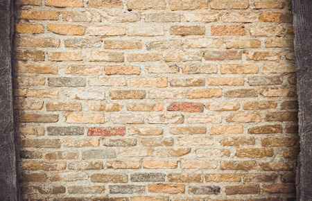 revetment: Old red brick wall background