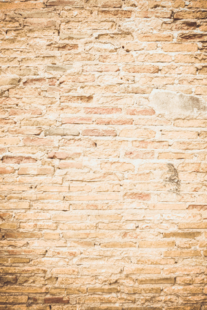solid background: Grunge red brick wall background with copy space
