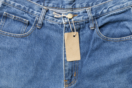 grungy: Background denim texture with cardboard label use for texts display Stock Photo