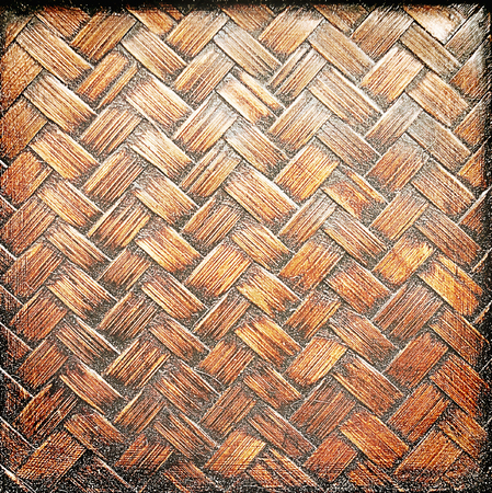 Close up old brown bamboo texture background Stock Photo