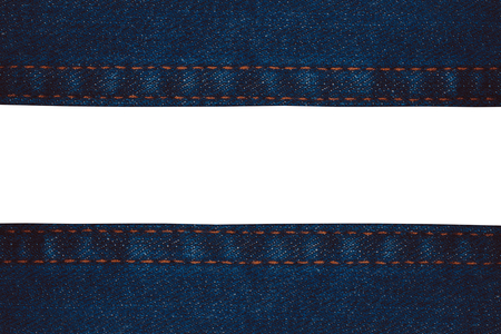 Close up denim jeans texture background with space use for texts display