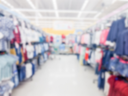 Blurred shopping mall background for sell at department store