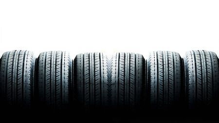 Close up tyre for sell texture background with space use for texts or something display Standard-Bild