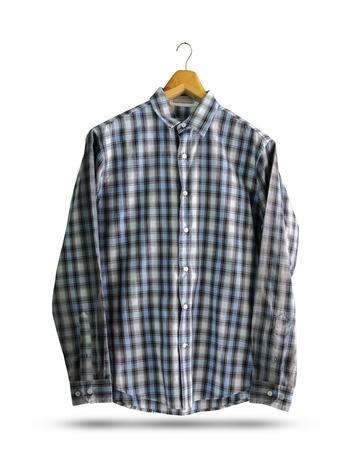 Close up shirt isolated on white background