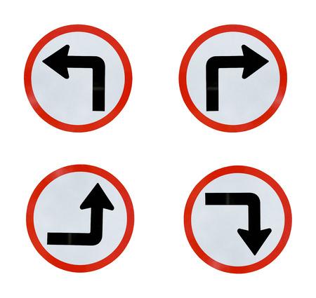 Pfeilzeichen isoliert auf weißem Hintergrund Standard-Bild