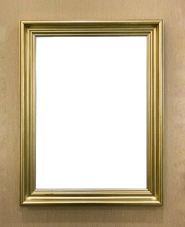 luxury vintage golden picture frame isolated Reklamní fotografie