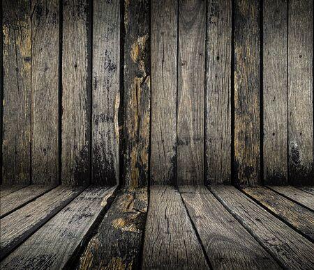 Close up old grunge rustic wooden texture background in dark  tone Reklamní fotografie - 125652663