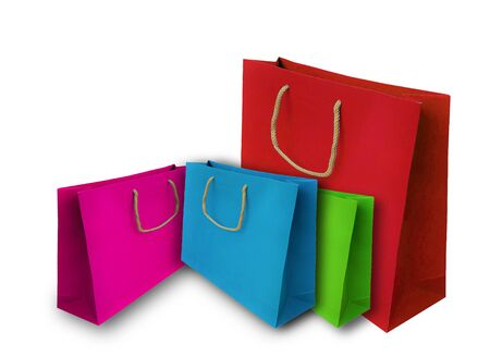 Colorful shopping bag isolated on white background Reklamní fotografie - 132134237