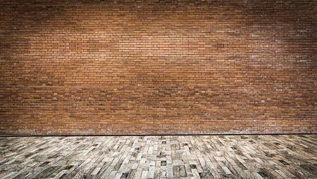 Close up rustic brown old brick wall texture background Standard-Bild