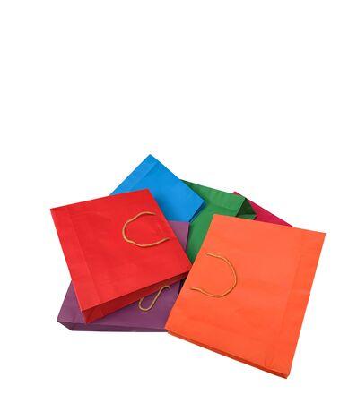 Colorful shopping bag isolated on white background Reklamní fotografie - 132133960