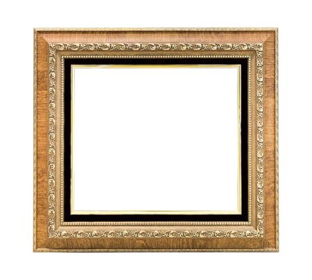 Close up picture frame isolated on white background