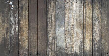 Close up old rustic dark wooden texture background tabletop Standard-Bild