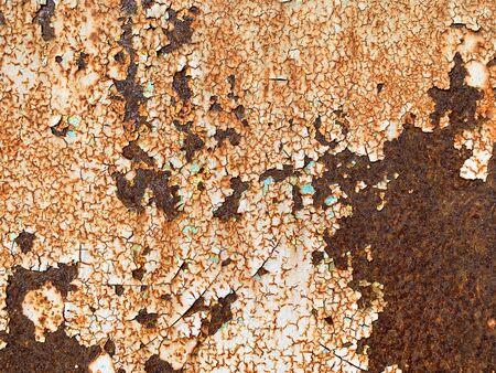 Close up old brown rustic metal texture background Standard-Bild