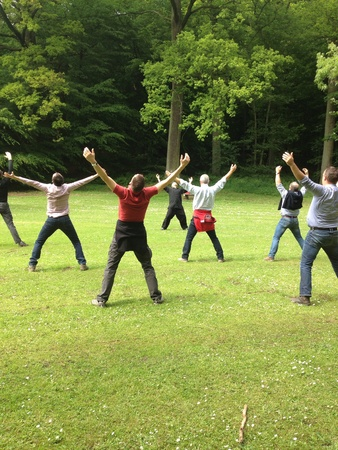 qi: Tai chi chuan session In the park