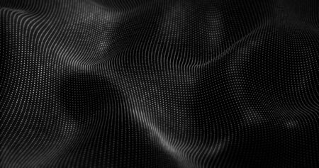 futurist: Futuristic Particles Wave Abstract Background - Creative Design Element.