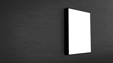 message board: blank billboard on the wall - 3D rendering Stock Photo