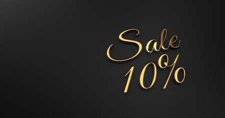 black leather: Luxury Design 3d Gold Sale on Black Leather - Promotion Sale
