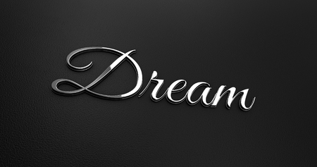 online specials: Luxury Design 3d Chrome Dream on Black Leather - Business Concept