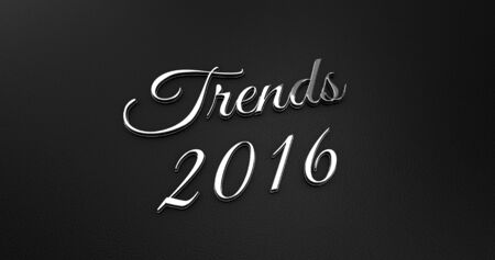 online specials: Luxury Design 3d Chrome Trends 2016 on Black Leather - Business Concept