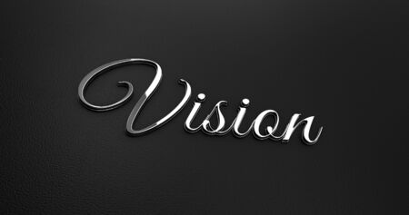 online specials: Luxury Design 3d Chrome Vision on Black Leather - Business Concept