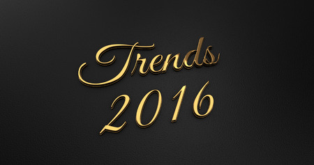 online specials: Luxury Design 3d Gold Trends 2016 on Black Leather - Business Concept
