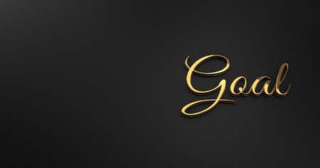 online specials: Luxury Design 3d Gold Goal on Black Leather - Business Concept