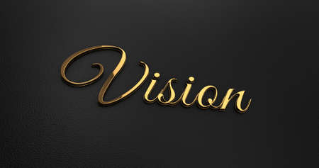 online specials: Luxury Design 3d Gold Vision on Black Leather - Business Concept