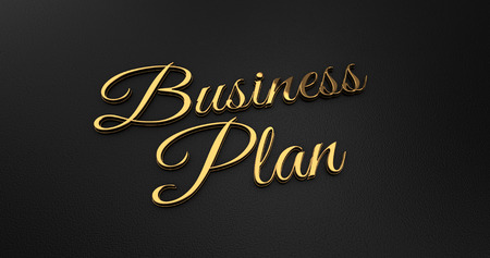online specials: Luxury Design 3d Gold Business Plan on Black Leather - Business Concept