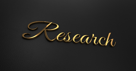 online specials: Luxury Design 3d Gold Research on Black Leather - Business Concept Stock Photo