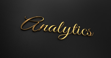 online specials: Luxury Design 3d Gold Analytics on Black Leather - Business Concept