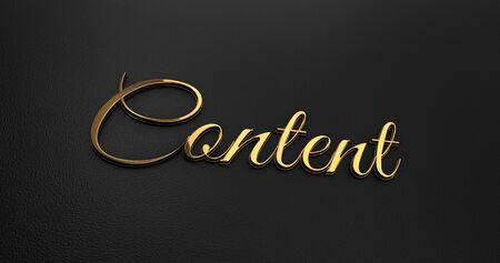 online specials: Luxury Design 3d Gold Content on Black Leather - Business Concept