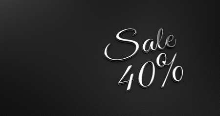 black leather: Luxury Design 3d Chrome Sale on Black Leather - Promotion Sale