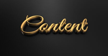 black leather: Luxury Design 3d Gold Content on Black Leather - Business Concept