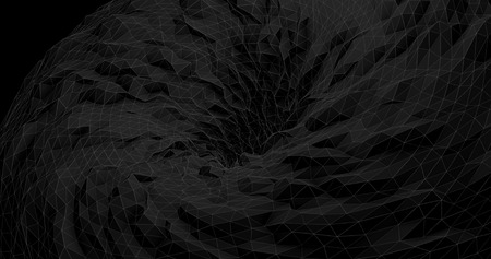 black hole: Abstract Futuristic Black Hole - Digital Art Concept Stock Photo