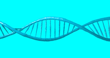 biochemistry: Concept of Biochemistry with DNA Molecule on blue background