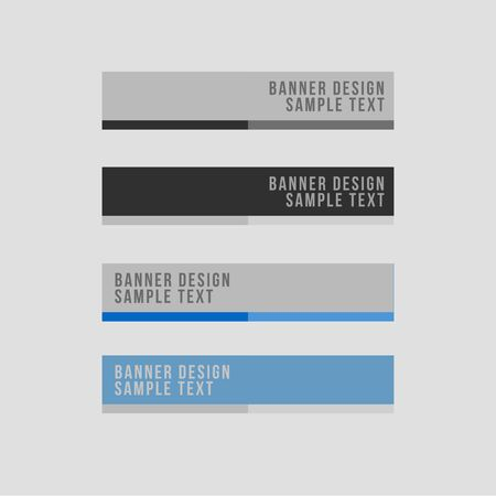 minimal: Minimal Style Vector banners set
