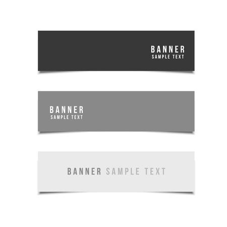 minimal style: Minimal Style Vector banners set