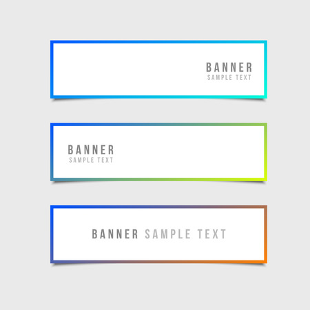 minimal: Minimal Style Vector banners set
