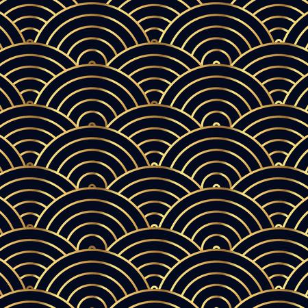 high society: Luxury Geometric Gold Background Illustration