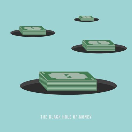 gravitational field: The Black Hole of Money