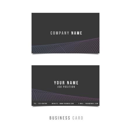 Premium Minimal Vector Business Card Design